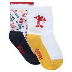 Lot de 2 paires de chaussettes assorties Disney Mickey