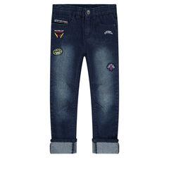 Jeans effet used Disney/Pixar® avec badges patchés Cars