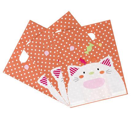 Lot de 10 sacs à bonbons anniversaire motif chat