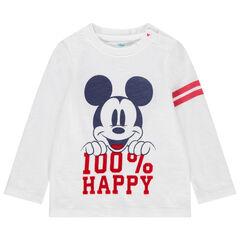 T-shirt manches longues en coton bio print Mickey Disney et bandes , Orchestra