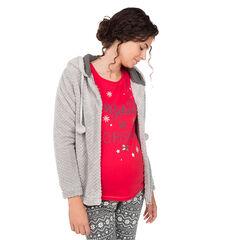 Veste de grossesse zippée à capuche