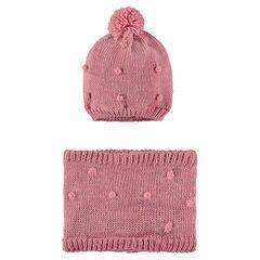 Ensemble bonnet et snood en tricot doublés de micropolaire