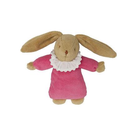 Knuffel muzikaal 1e lftd konijn fushia