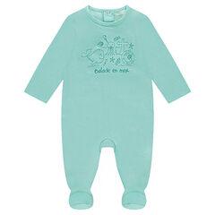 Pyjama uit jerseystof met print met waterdieren