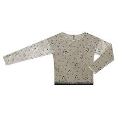 Junior - Sweat en panne de velours motif étoiles