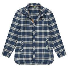 Junior - Flanellen hemd met lange mouwen en contrasterende ruiten