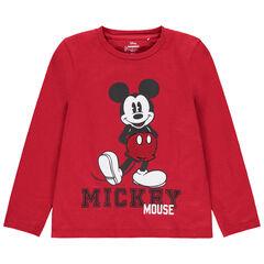 T-shirt manches longues en coton bio print Mickey Disney