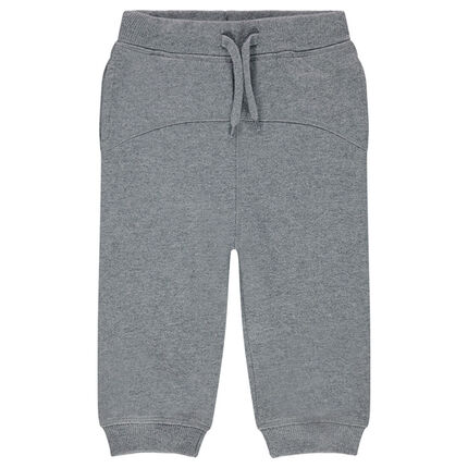 Pantalon de jogging en molleton avec découpe devant et dos