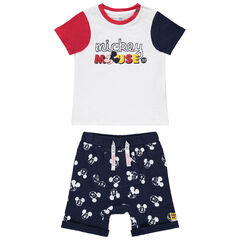 Ensemble t-shirt et short en coton bio print Mickey Disney