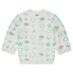 Gilet en tricot doublé jersey motif ©Smiley