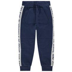 Junior - Pantalon de jogging à bandes contrastées et poche kangourou