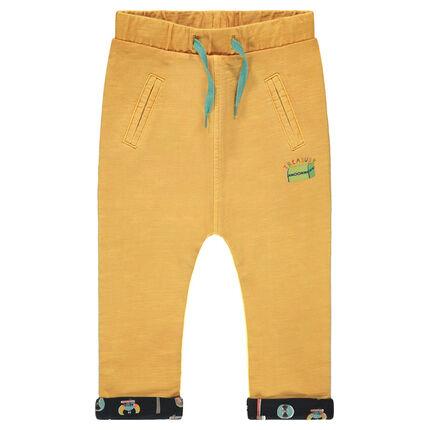 Pantalon en jersey slub doublé jersey imprimé vikings all-over