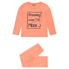 Pyjama uit jerseystof met print met boodschap