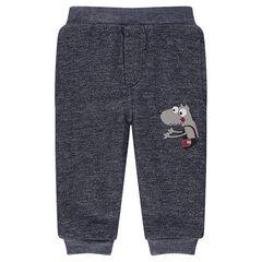 Pantalon en molleton doublé sherpa