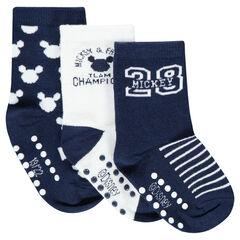 Set met 3 paar sokken kousen met motief ©Disney Mickey van jacquard