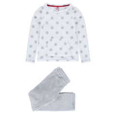 Junior - Pyjama en sherpa avec pois