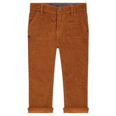 Pantalon en velours milleraies
