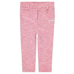 Pantalon en double jersey twisté avec bandes contrastées