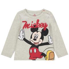 T-shirt manches longues chiné print Mickey Disney
