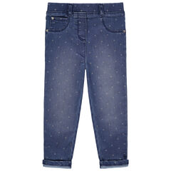 Jegging effet used à étoiles all-over