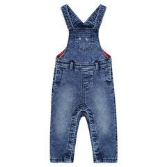 Saalopette longue en jeans effet used doublée jersey