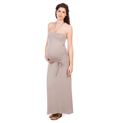 Lange zwangerschapsjurk met bustier