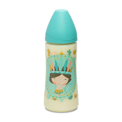 Zuigfles Indiër 360 ml - Blauw