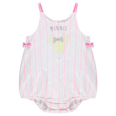 Korte jumpsuit met streepjes en print van Minnie ©Disney