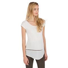 Tee-shirt de grossesse manches courtes avec maille ajourée