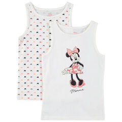 Lot de 2 maillots de corps print Minnie Disney