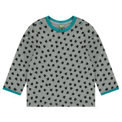 "T-shirt met lange mouwen en print ""all-over"""