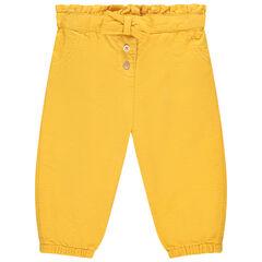 Pantalon boule en toile jaune