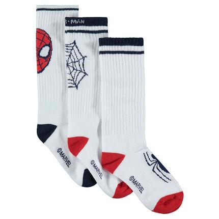 Lot de 3 paires de chaussettes avec Spiderman ©Marvel en jacquard
