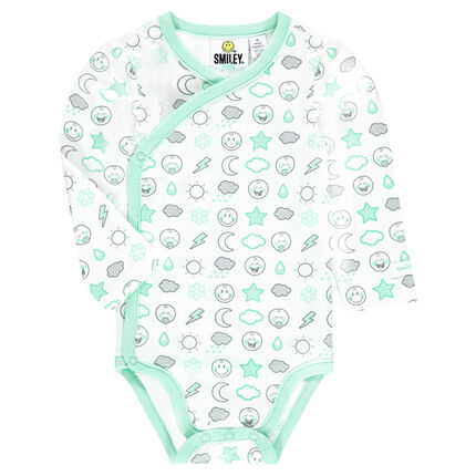 Body manches longues en jersey print ©Smiley Baby all-over