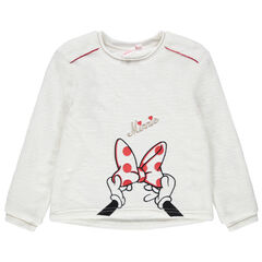 Sweat en sherpa à broderies Minnie Disney