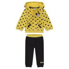 Jogging en molleton jaune et gris Disney Minnie