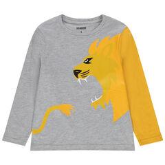 T-shirt manches longues print lion jaune