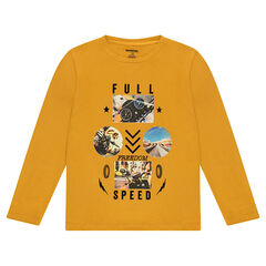 Junior - Tee-shirt manches longues en jersey avec print fantaisie