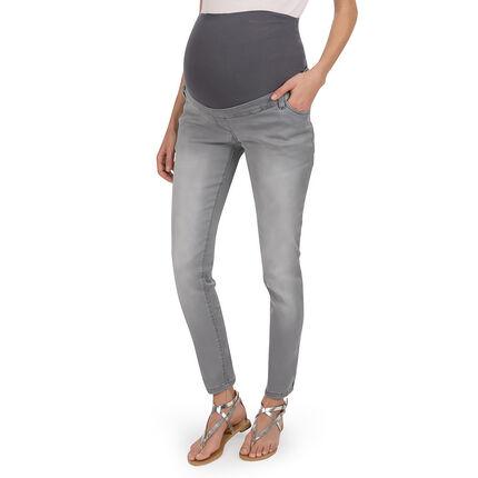 Jeans skinny de grossesse effet used et crinkle
