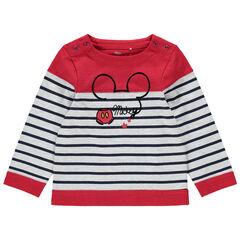 Marinière à rayures placées print Mickey Disney