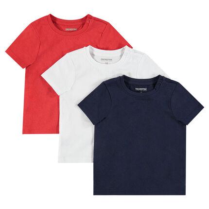 Lot de 3 tee-shirt manches courtes unis