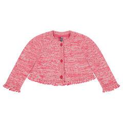Gilet en tricot forme boléro avec volants