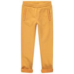 Legging en jersey doublé sherpa jaune