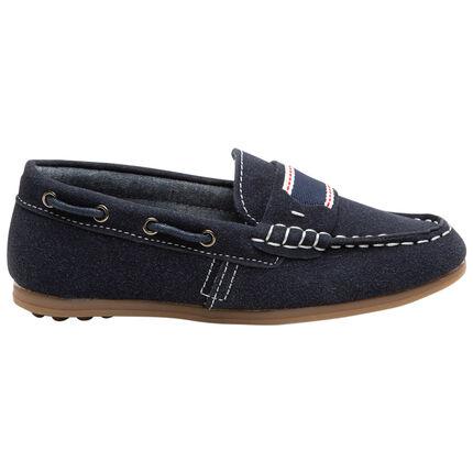Chaussures bateau à galon fantaisie