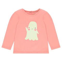 Speciaal Halloween T-shirt met fluorescerende print met spook