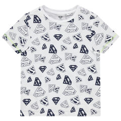 T-shirt manches courtes imprimé Superman all-over