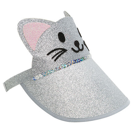 Visière chat à paillettes all-over
