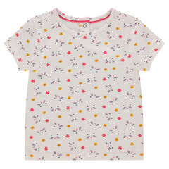 T-shirt met korte mouwen uit jerseystof met bloemenprint
