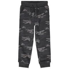 Pantalon de jogging en molleton motif camouflage