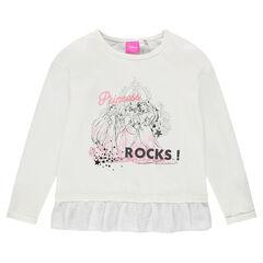 Tee-shirt volanté Dinsey avec princesses printées
